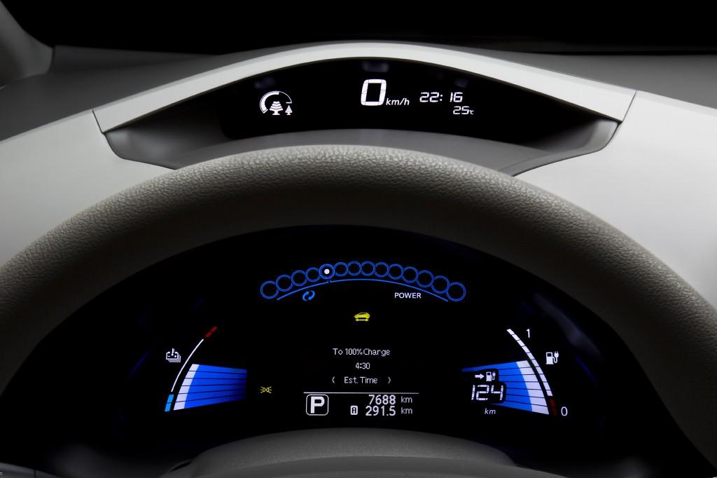 Nissan Leaf Anzeige
