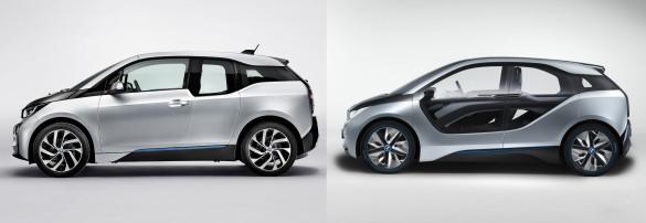 BMW i3 Vergleich Concept Serie Seite