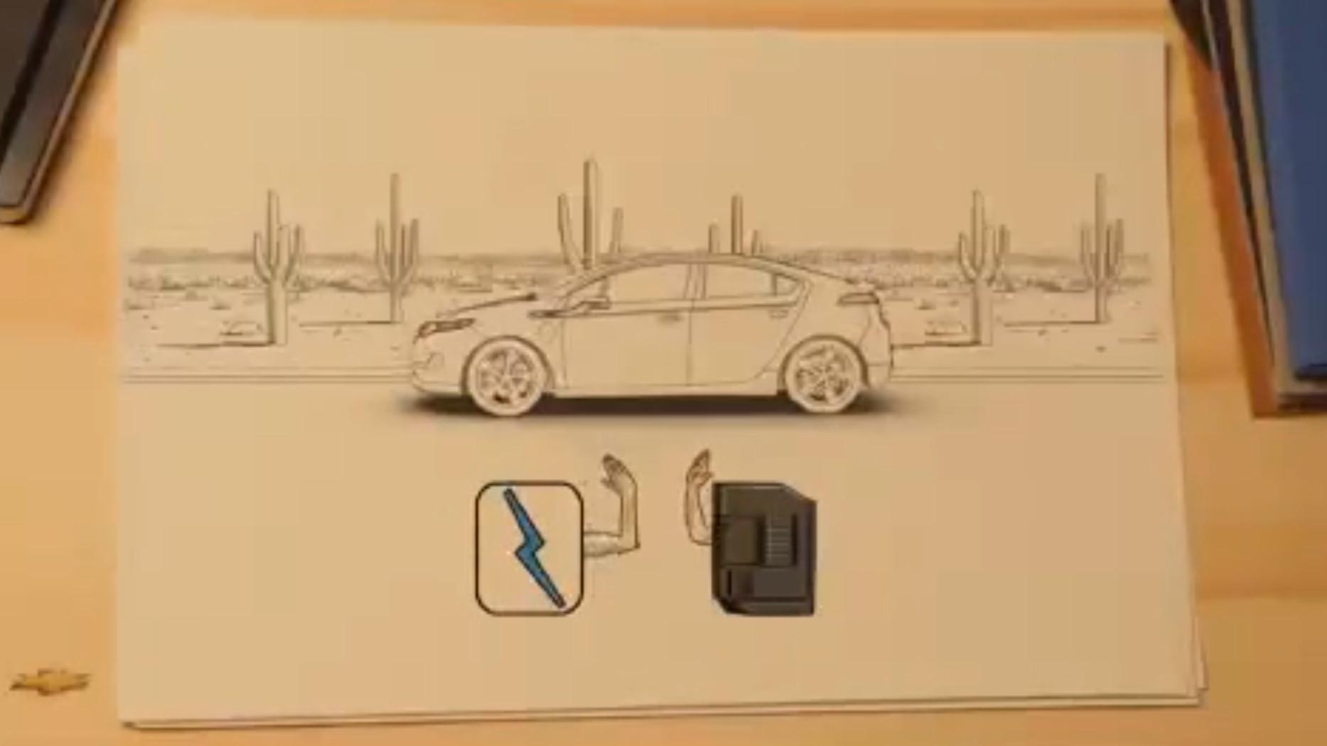 Chevy Volt via QR Code erklärt