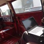 Noch steuert man Gino mit dem Computer; Foto: Mobility Engineering