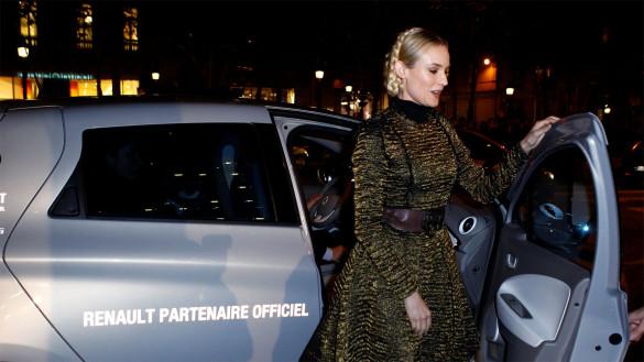 Renault ZOE und Diane Kruger erleuchten Champs-Elysées