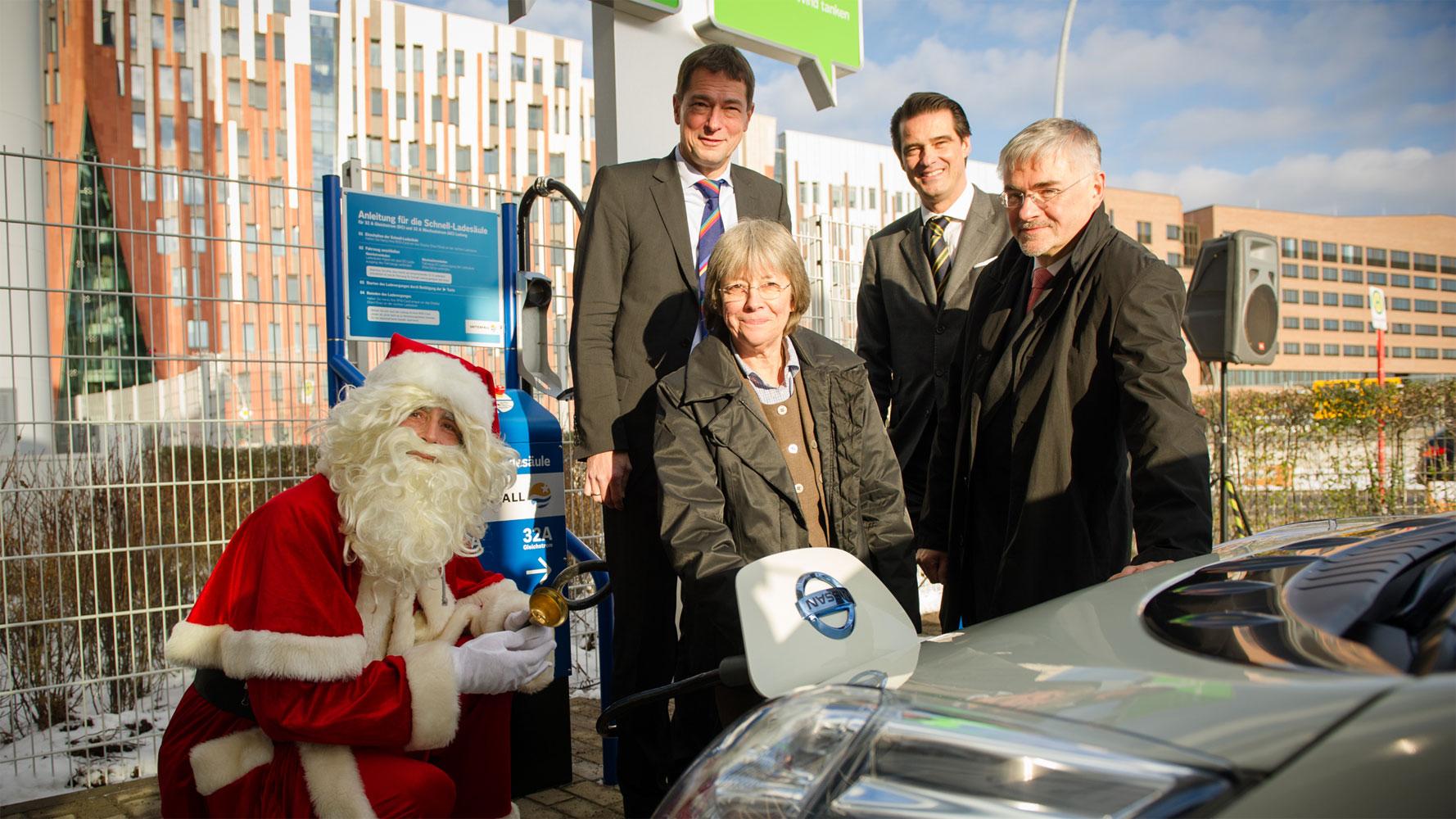 Schnellladesäule in Hamburg eingeweiht