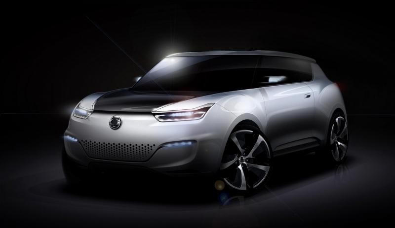 Ssangyong e-XIV: Elektroauto Studie auf Pariser Autosalon