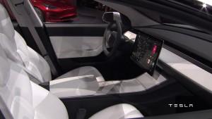 Screenshot Tesla Model 3 Präsentation