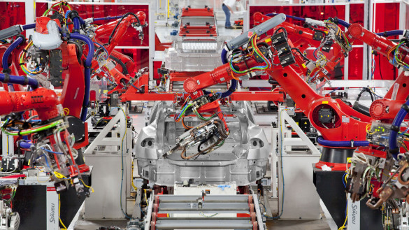 Video der Tesla Model S Fabrik in Fremont