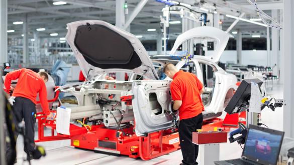 Tesla Model S Produktion bei 200 pro Woche