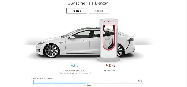 Tesla hat jetzt einen Supercharger-Kostenrechner