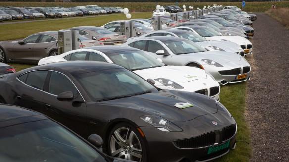 Fisker Weltrekord im gleichzeitigen Laden von Elektroautos