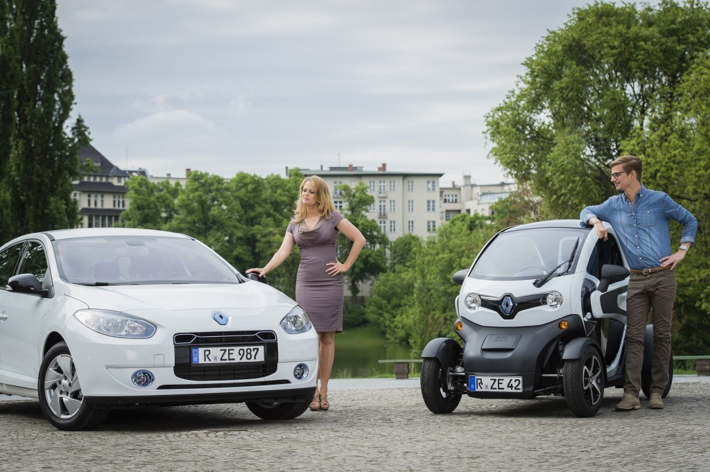 Barbara Schöneberger und Joko Winterscheidt Renault Z.E.