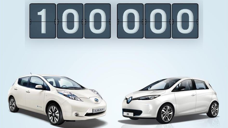 Renault-Nissan verkauft 100.000 Elektrofahrzeuge