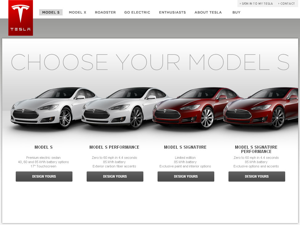 Tesla Model S Design Studio
