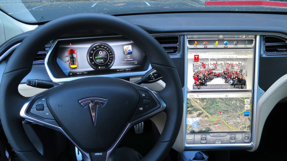 Tesla Model S Menü