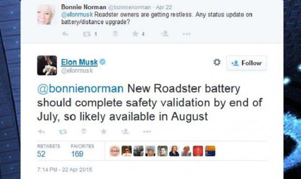 Vor rund einem Jahr verprach Elon Musk ein Akku-Upgrade bis August