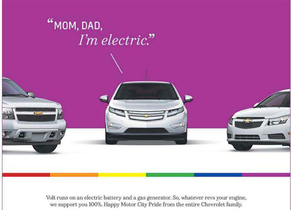 Chevy Volt's Coming-out – Homosexuelle als Zielgruppe