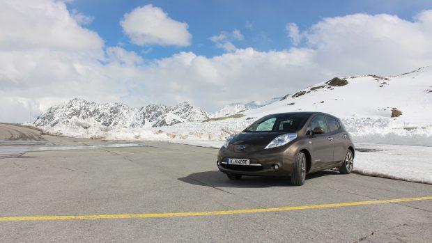 Nissan Leaf am Tiefenbachgletscher