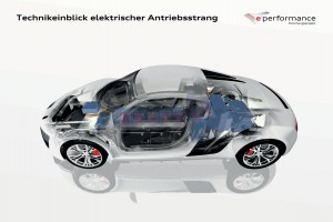 Audi F12 e performance Antriebsstrang