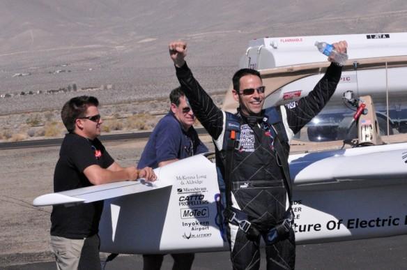 Chip Yates Rekord Elektroflugzeug