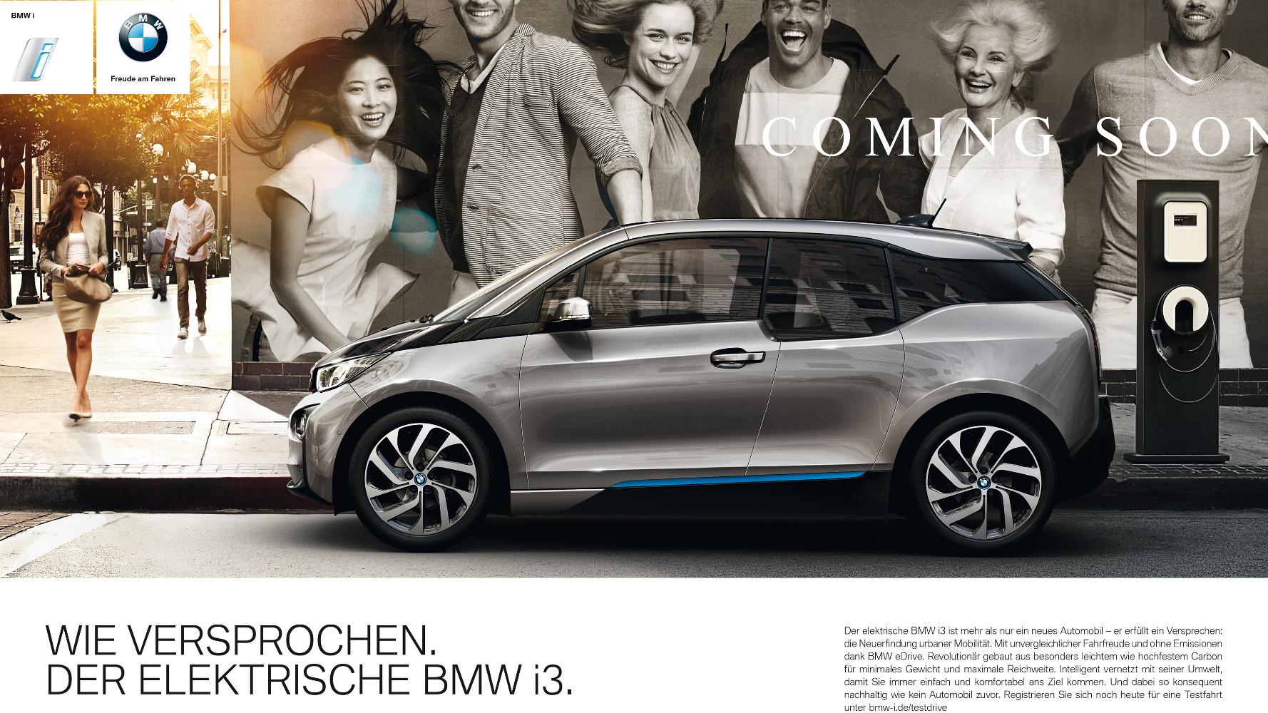 BMW i3 Werbekampagne 'Wie versprochen.' Wirklich?