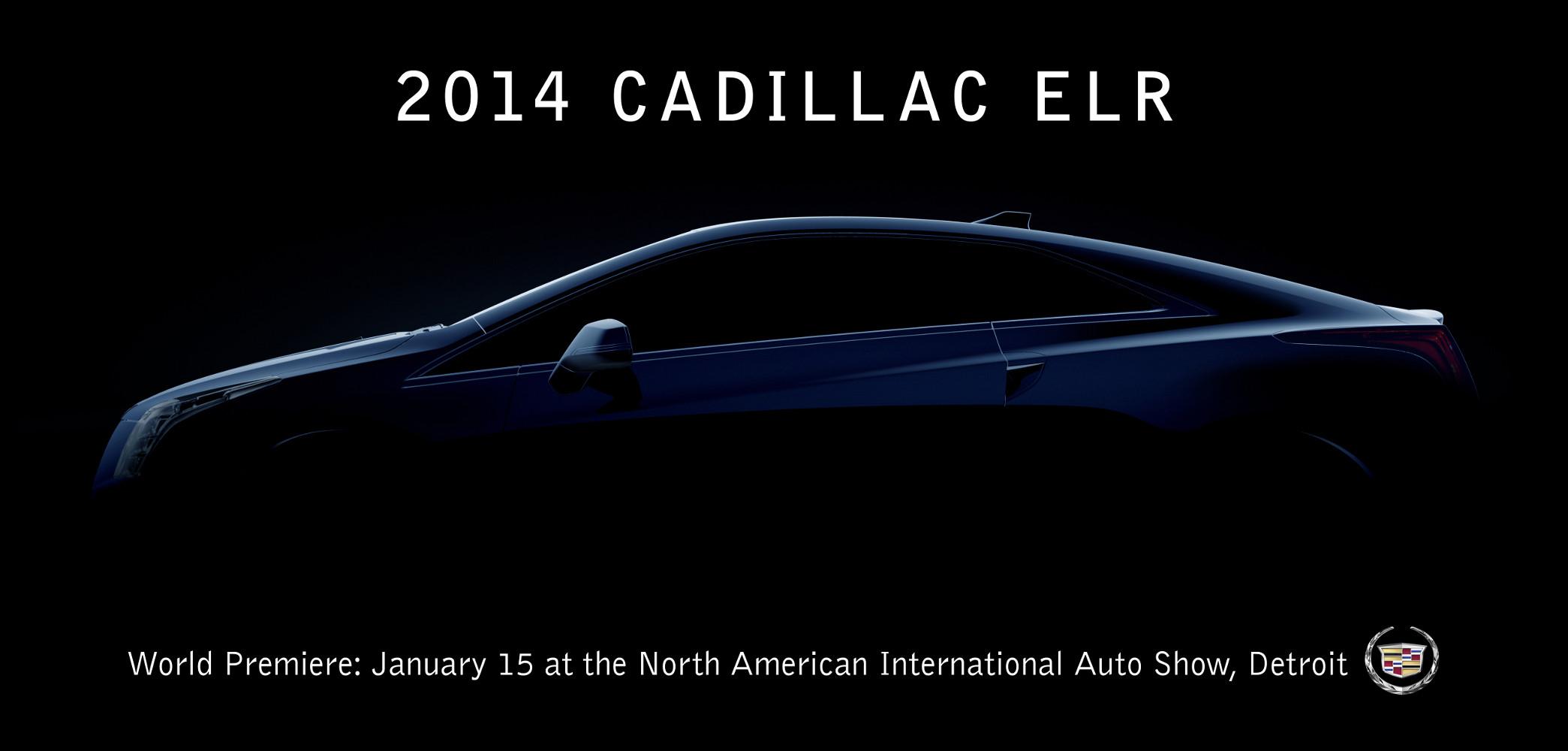 Cadillac ELR Teaser, Weltpremiere in Detroit