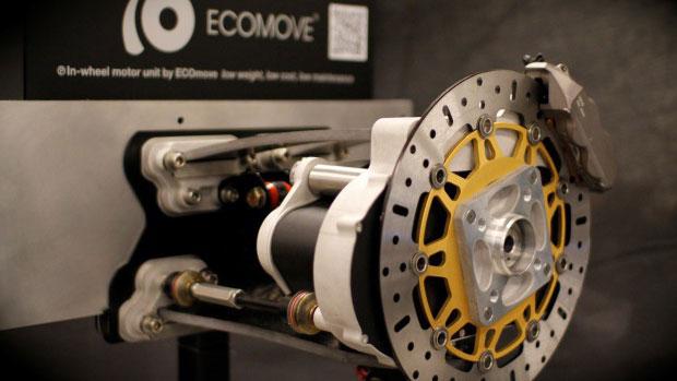 ECOmove präsentiert Radnabenmotor – Autosalon Paris