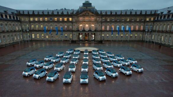 Elektroauto Carsharing car2go in Stuttgart gestartet