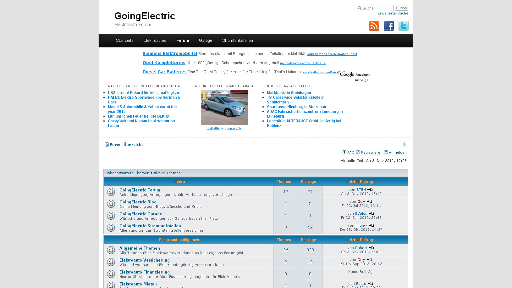 Elektroauto Forum: Die aktuelle Themen