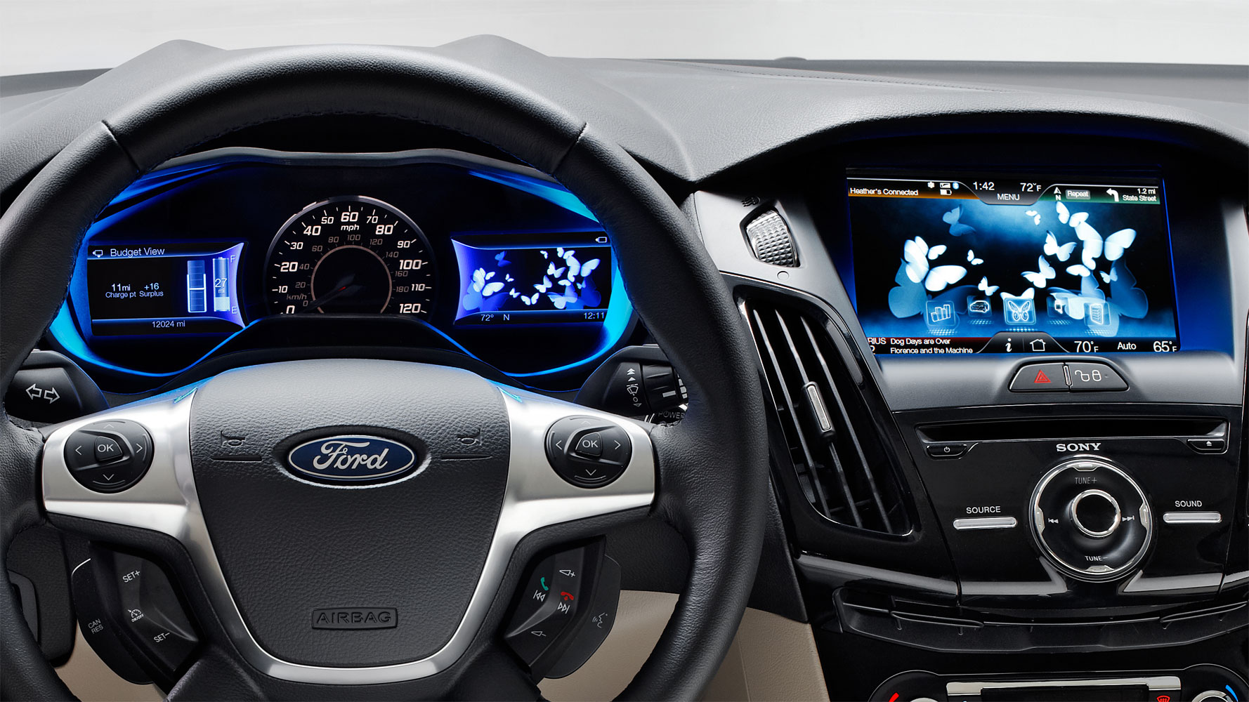 Ford Focus Electric hat Schmetterlinge im Bauch