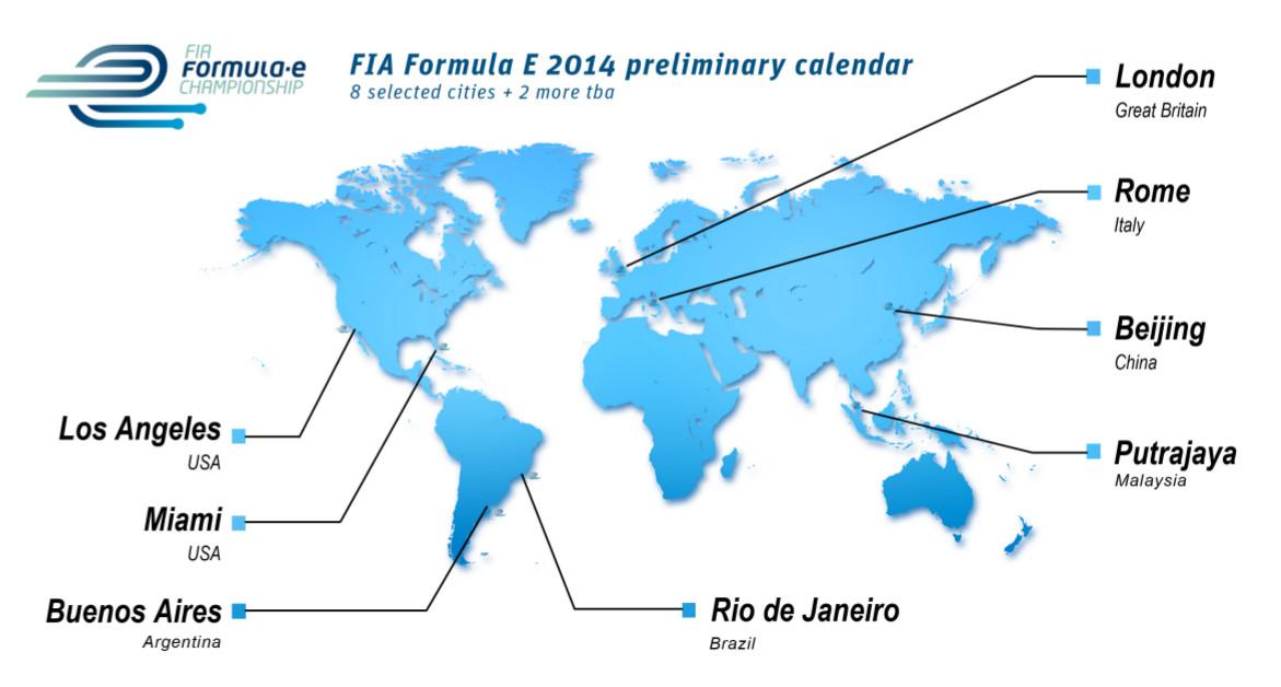 Formel E: vorläufiger Kalender 2014