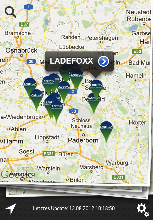 Stromtankstellen App: Ladefoxx-Edition der Plugfinder App