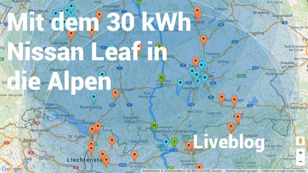 Liveblog - mit dem 30 kWh Nissan Leaf in die Alpen