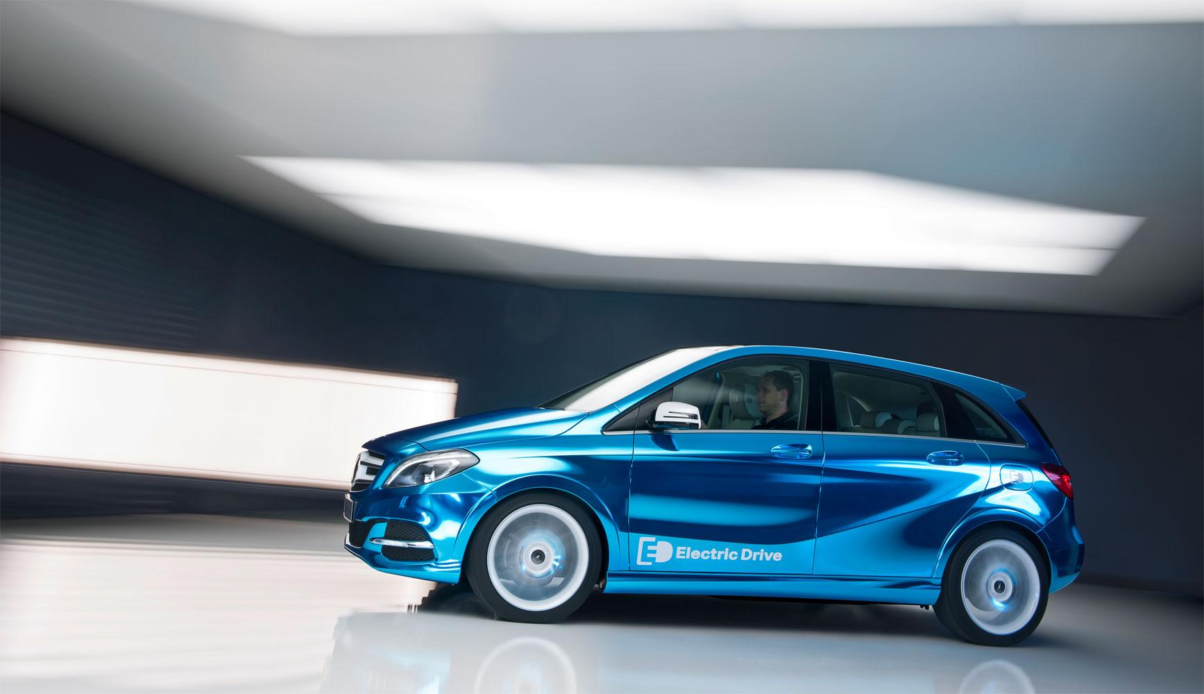 Mercedes Concept B-Klasse Electric Drive auf Autosalon Paris