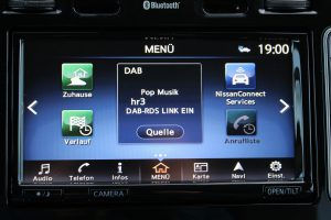 Nissan Connect EV Menü