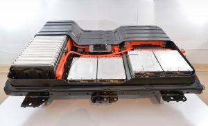 Nissan Leaf - hier die alte Batterie