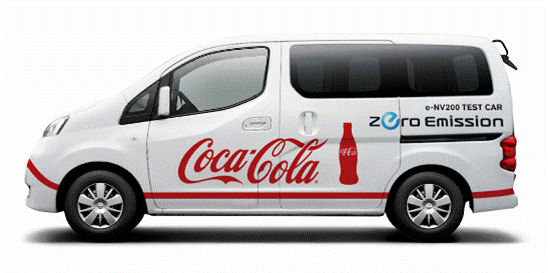 Nissan e-NV200 Test mit Coca-Cola Japan