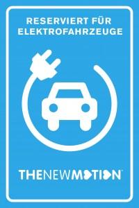 Reserviert für Elektrofahrzeuge