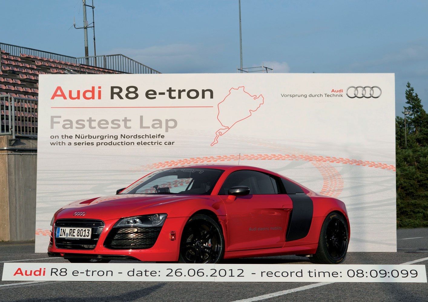Audi R8 e-tron Rekord auf der Nürburgring Nordschleife [Video]