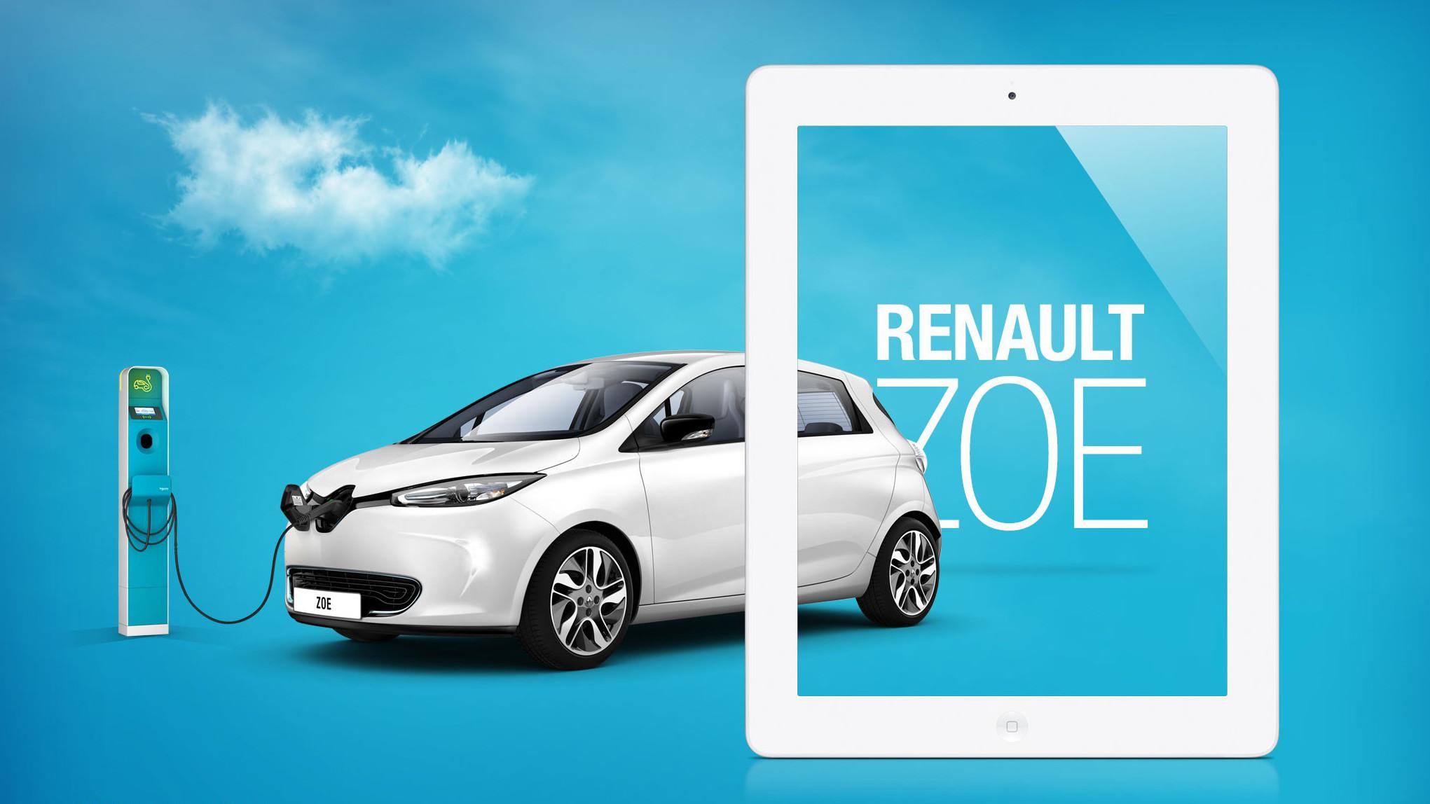 Renault ZOE auch als App für iPad, Android folgt