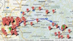 Routenplanung Reichweite