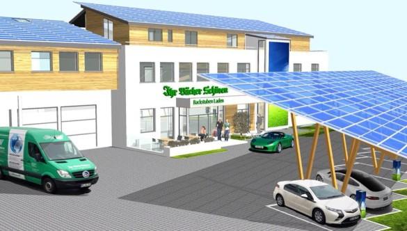 Einweihung der Solar Tankstelle Bäckerei Schüren