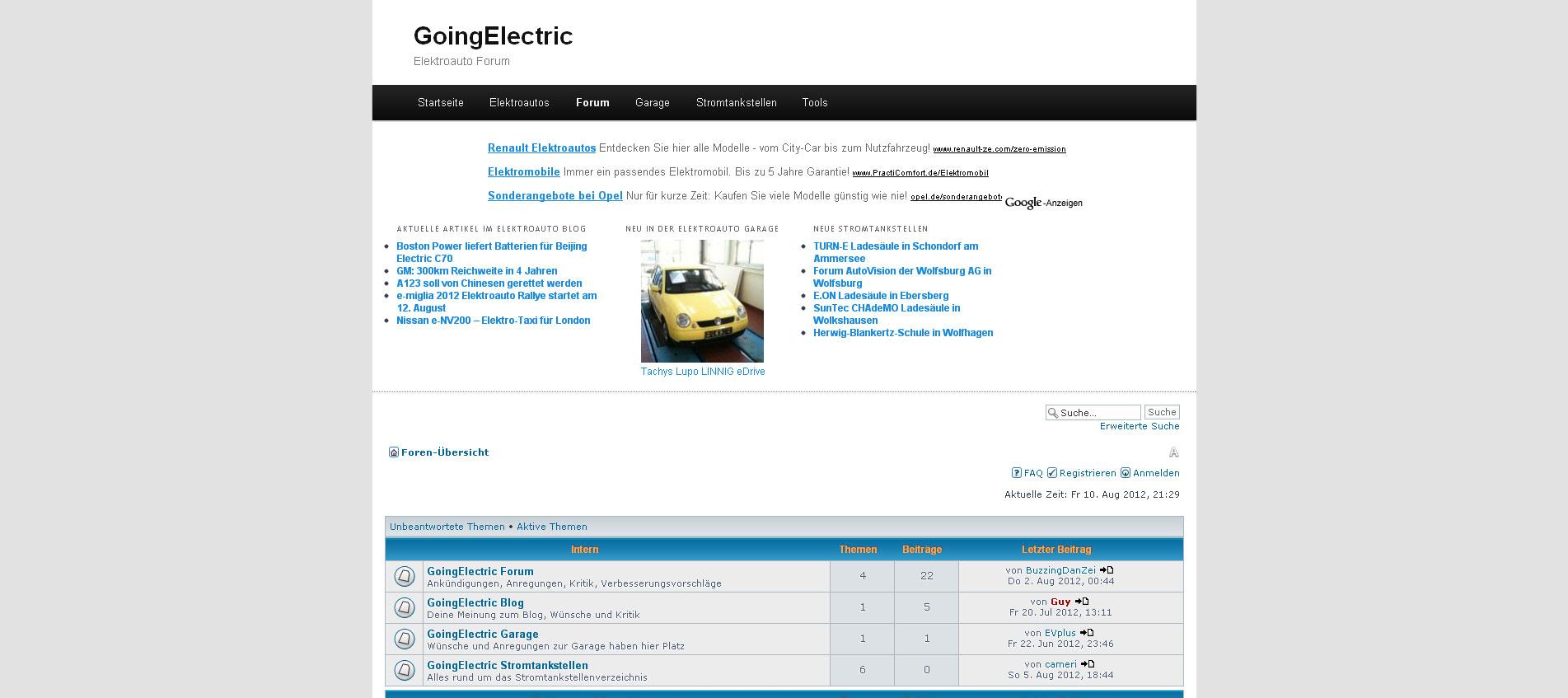 Elektroauto Forum – Aktuelle Themen