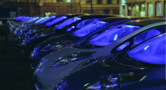 200 Nissan Leaf als Elektro-Disko