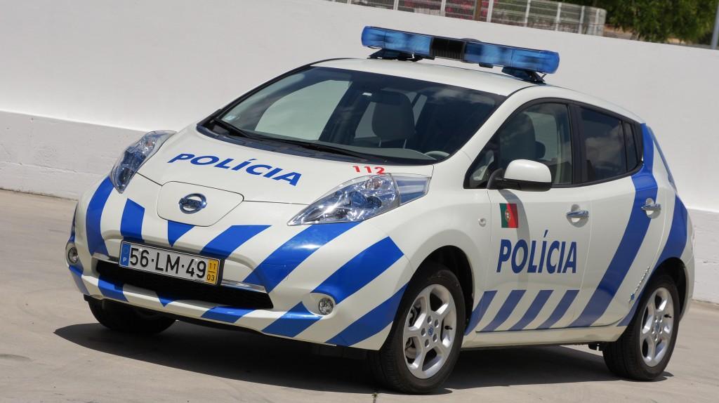 Nissan Leaf Polizei