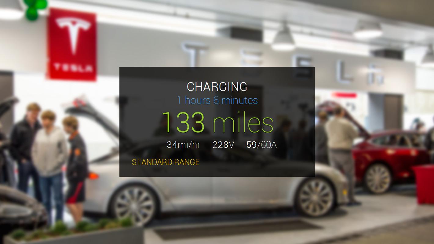 Tesla Model S via Google Glass steuern